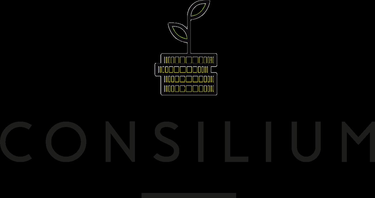 Consilium online-logotyp-svart